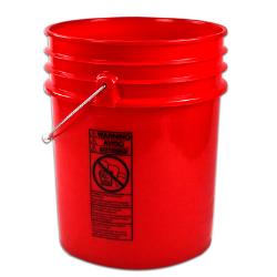 Letica ® Premium Red 5 Gallon Bucket