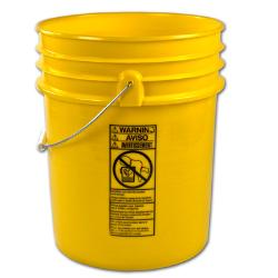 Letica ® Premium Yellow 5 Gallon Bucket