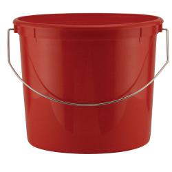 Leaktite ® 5 Qt. Heavy Duty Plastic Grid Reinforced HDPE Red Pail