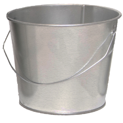 5 Qt. Galvanized Steel Pail