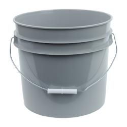Gray 3.5 Gallon HDPE Bucket