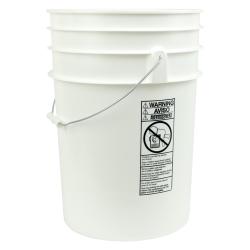 White 6 Gallon Bucket