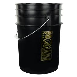 Black 6 Gallon Bucket