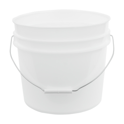 Natural 3.5 Gallon HDPE Bucket