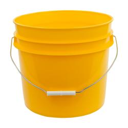 Yellow 3.5 Gallon HDPE Bucket