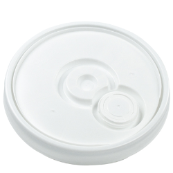 UN Rated White 5 Gallon Bucket w/Metal Handle & Lid w/Rieke Pour Spout