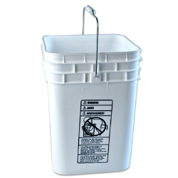 Letica® 4 Gallon White HDPE Square Bucket (Lid Sold Separately)