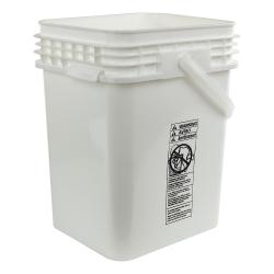 5 Gallon White Life Latch ® Square Pail