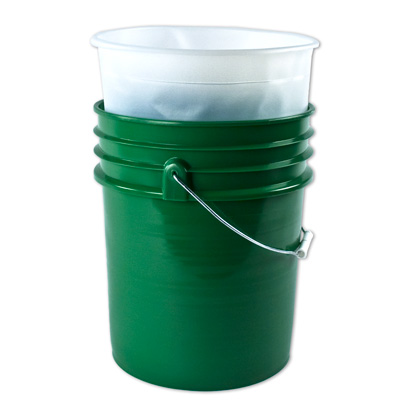 "5 Gallon PP Pail Insert with 2.7° Taper - 11.25"" Dia. x 14"" H"