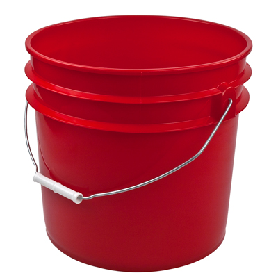 Red 3 1 2 Gallon Bucket U S Plastic Corp