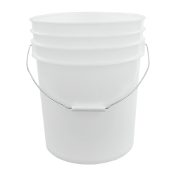 Natural 5 Gallon Premium HDPE Bucket