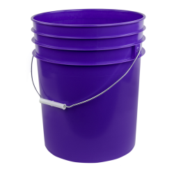 Purple 5 Gallon Premium HDPE Bucket