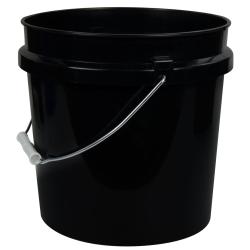 Black 2 Gallon HDPE Bucket