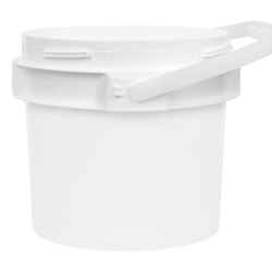 1 Gallon Lite Latch ® White Bucket