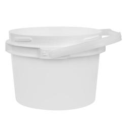 2 Gallon Lite Latch ® White Bucket