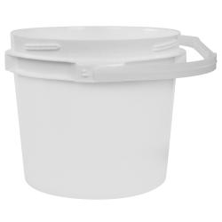 2.5 Gallon Lite Latch ® White Bucket