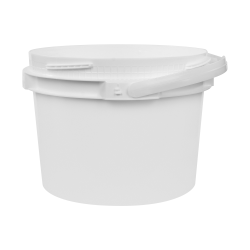 3 Gallon Lite Latch ® White Bucket
