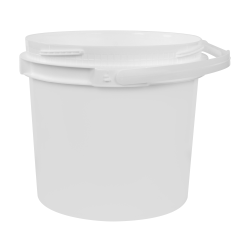 3.5 Gallon Lite Latch ® White Bucket