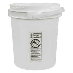 5 Gallon Lite Latch ® White Bucket