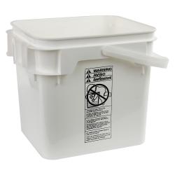 4 Gallon White Life Latch ® Square Pail