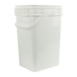 6.5 Gallon White Life Latch ® Square Pail