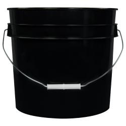 Black 3.5 Gallon HDPE Bucket
