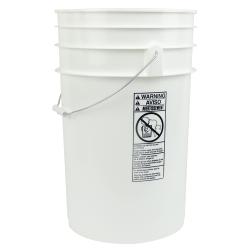 White 6.5 Gallon Bucket