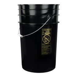 Black 6.5 Gallon Bucket