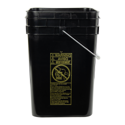 Letica ® 4-1/4 Gallon Black HDPE Square Bucket (Lid Sold Separately)