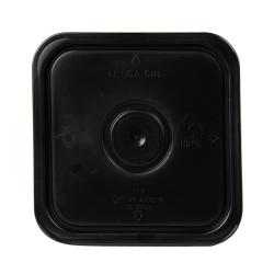 Letica ® 3-1/2, 4 & 4-1/4 Gallon Black HDPE Square Lid