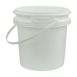 White Polypropylene 2 Gallon/8 Liter Bucket with Handle