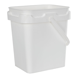 2 Gallon Super Kube White Pail with Handle