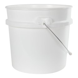 3.5 Gallon White HDPE UN Rated Pail with Handle