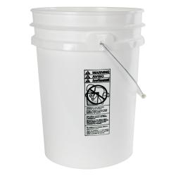 5.5 Gallon White HDPE UN Rated Pail w/ Handle