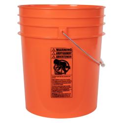 Premium Orange 5 Gallon Bucket