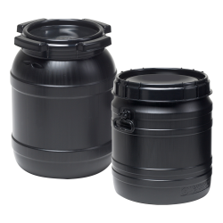4 Gallon Wide Mouth Stackable HDPE Drum w/ Lid