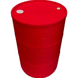 55 Gallon Red Closed Head Drum 23.25