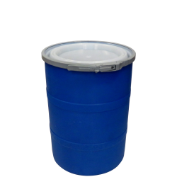 """15 Gallon Blue Open Head Drum 17.875"""" Dia. with Band x 22.5"""" Hgt."""