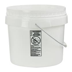 White 3-1/2 Gallon SmartPak ® Medium Duty HDPE Bucket