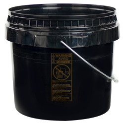 Black 3-1/2 Gallon SmartPak ® Medium Duty HDPE Bucket