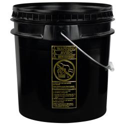 Black 4-1/2 Gallon SmartPak ® Medium Duty HDPE Bucket
