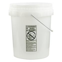 Natural 5 Gallon SmartPak ® Medium Duty HDPE Bucket