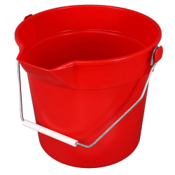10 Quart Red Deluxe Heavy Duty Bucket
