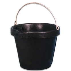 12 Quart Heavy Duty Neoprene Rubber Pail with Stainless Steel Handle