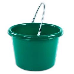 Green Molded Rubber-Polyethylene 8 Quart Pail