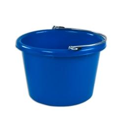 Blue Molded Rubber-Polyethylene 8 Quart Pail