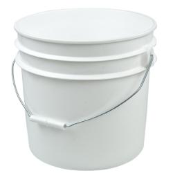 White 3-1/2 Gallon Bucket