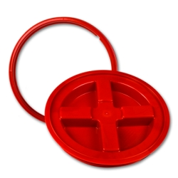 Red Gamma Seal ® Lid for 3.5 to 7 Gallon Pail