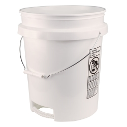 Built-in Bottom Handle 5 Gallon Buckets with Wire Handle