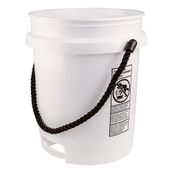 Built-in Bottom Handle 5 Gallon Buckets with Rope Handle